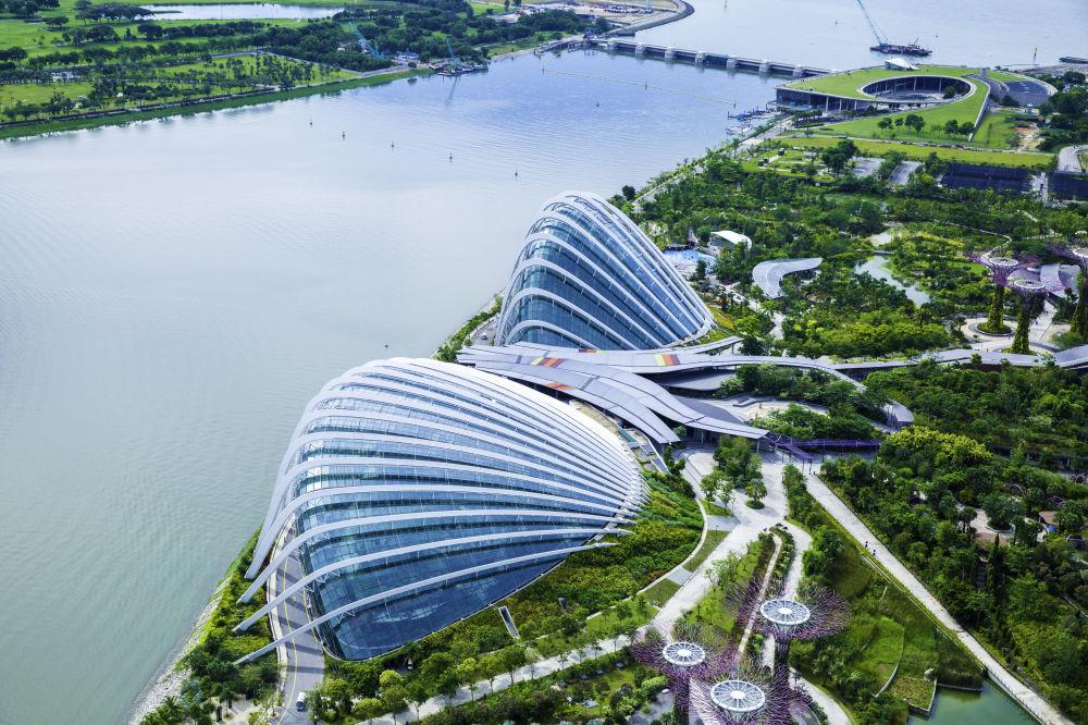 Singapur z lotu ptaka