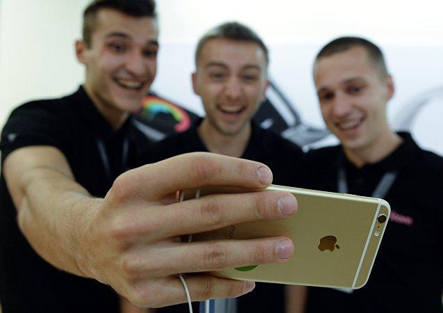 Selfie na iphone