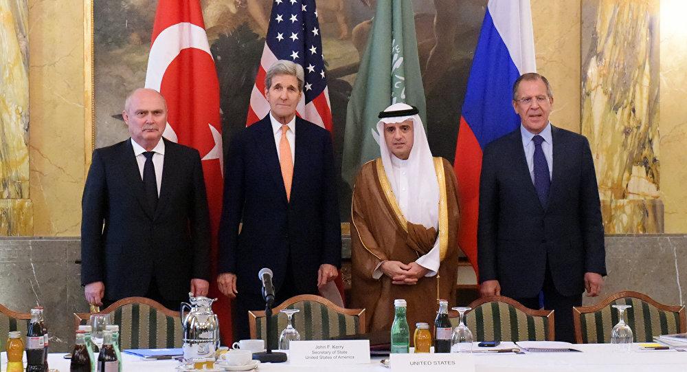 Spotkanie ministrów spraw zagranicznych Rosji, USA, Arabii Saudyjskiej i Turcji w sprawie Syrii w Wiedniu