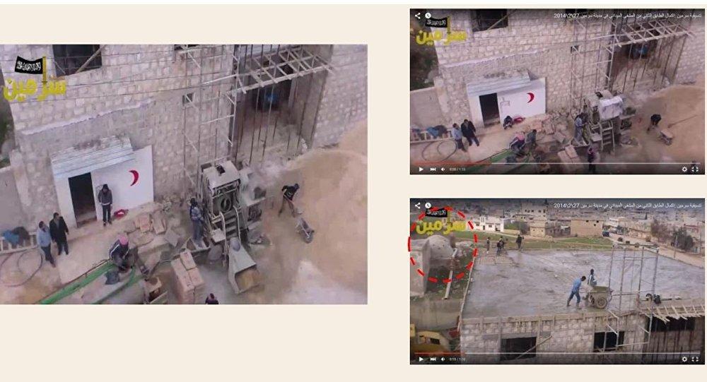 Zdjęcia budowu szpitalu w Sarmin