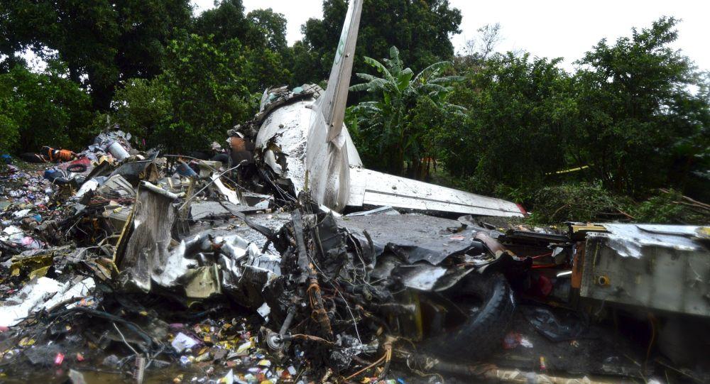 Fragmenty samolotu transportowego An-2 w Sudanie Południowym