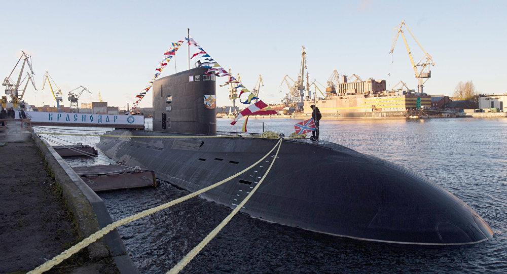 Ceremonia przekazania okrętu podwodnego Krasnodar rosyjskiej flocie