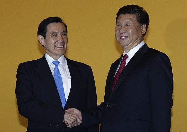 Prezydenci Chin Xi Jinping i Tajwanu Ma Ying-jeou