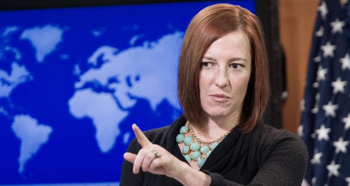 Rzecznik prasowa Departamentu Stanu USA Jen Psaki