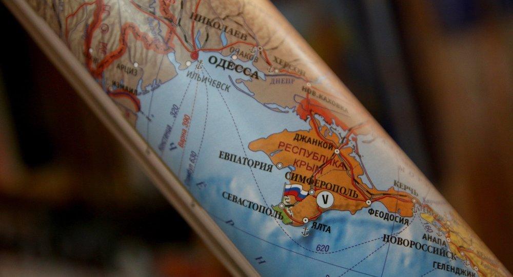 Mapa polityczna - Krym