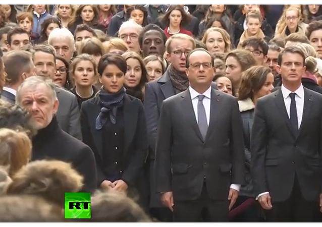 Ludzie uczcili pamięć ofiar ataków terrorystycznych w Paryżu