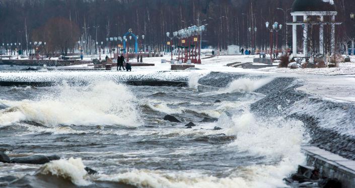 Jezioro Onega w Pietrozawodsku