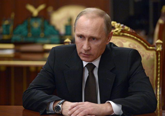 Władimir Putin podczas narady na Kremlu