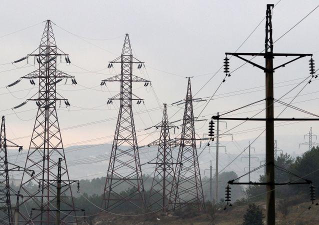 Linia wysokiego napięcia w Sewastopolu