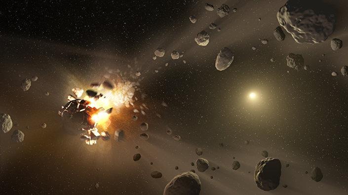 Eksplozja asteroidy, zdjęcie NASA