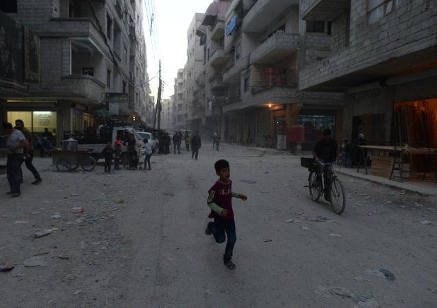 Dzieci Damaszku uciekają przed PI