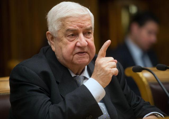 Minister spraw zagranicznych Syrii Walid Muallem