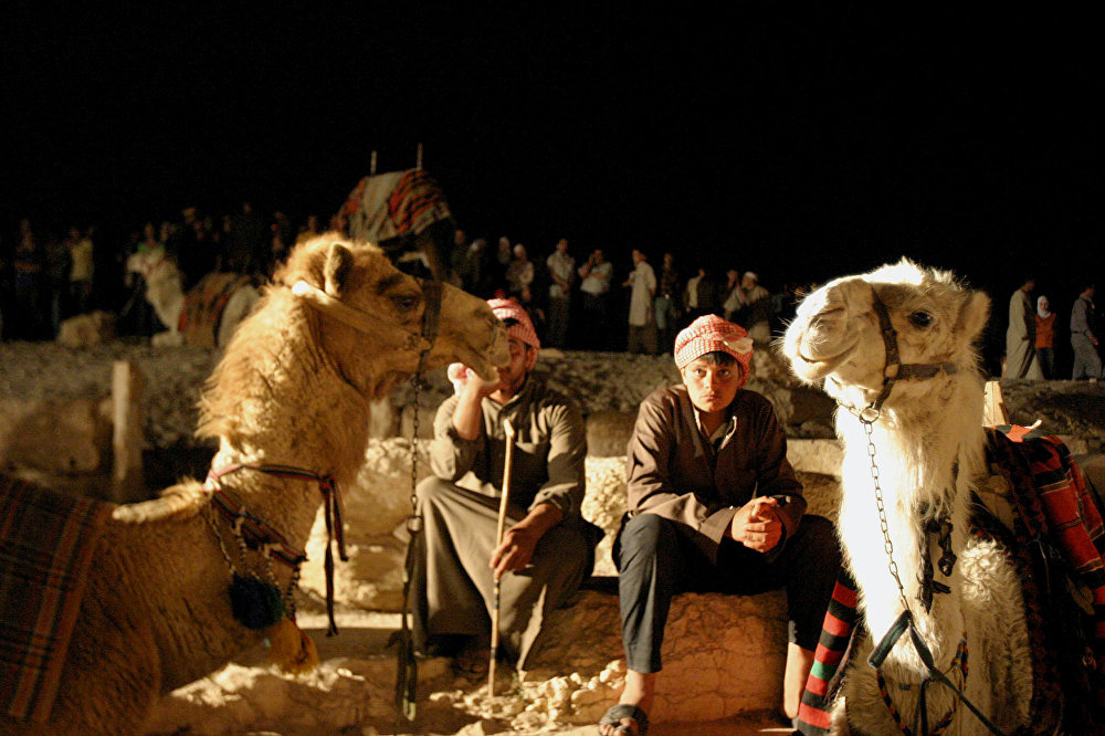 Syryjscy Beduini w Palmirze