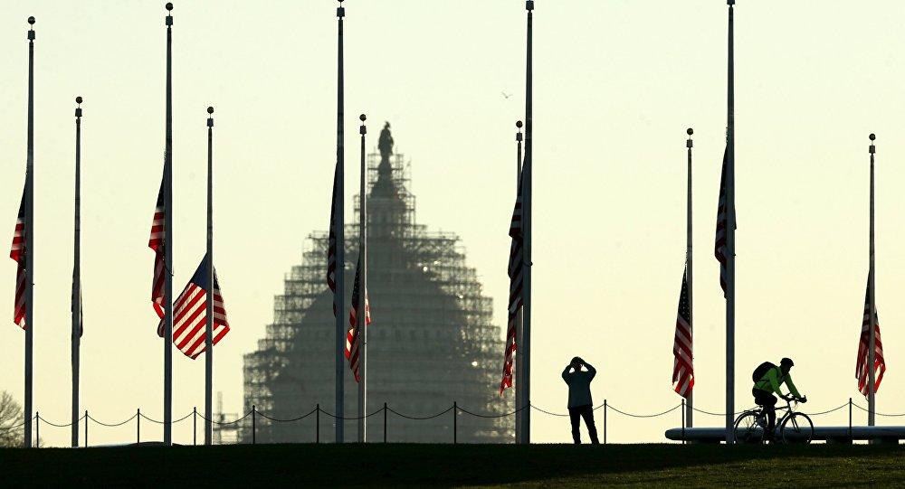 Widok na budynek Kongresu USA