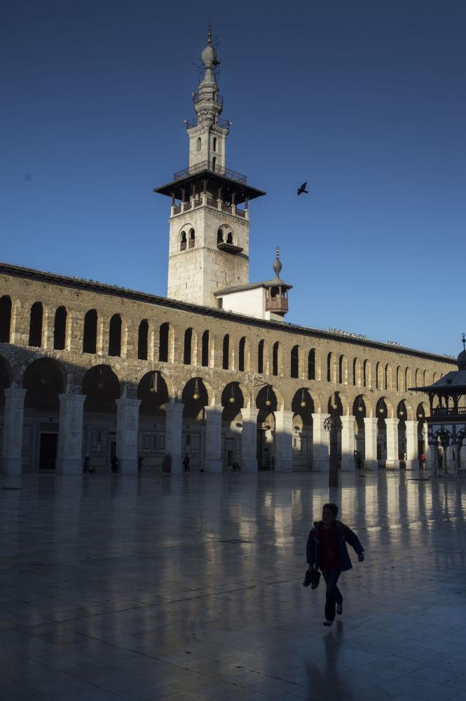 Widok na Meczet Umajjadów w Damaszku