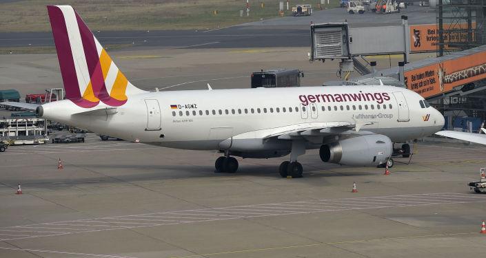 Samolot Germanwings na lotnisku Dusseldorf