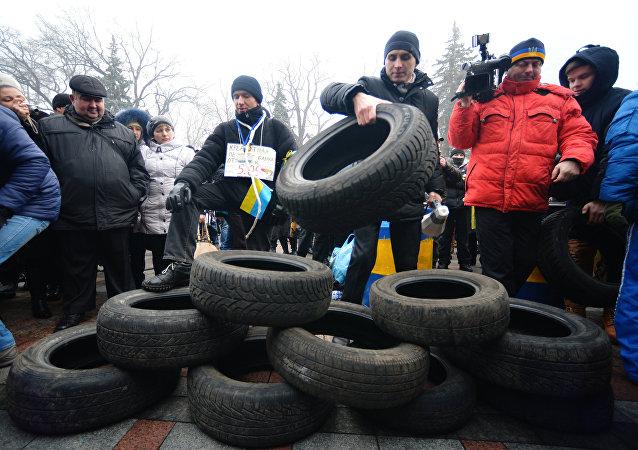 Akcja Majdan kredytowy w Kijowie