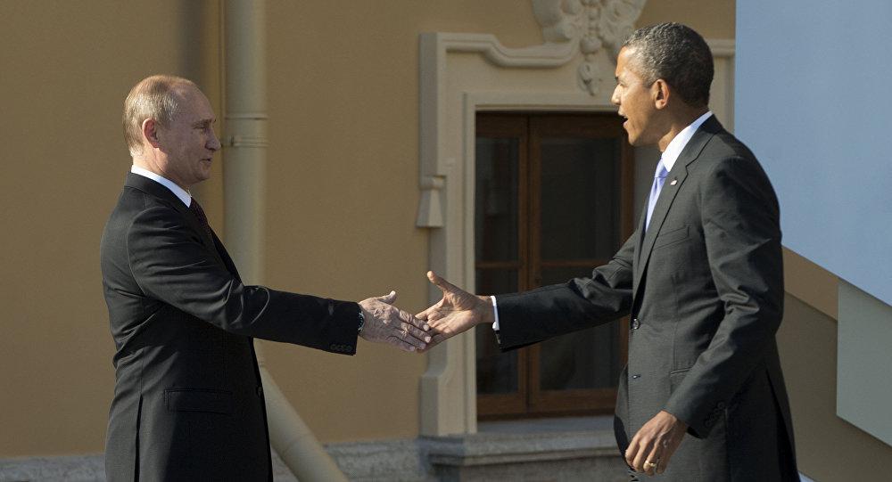 Prezydent Rosji Władimir Putin i prezydent USA Barack Obama