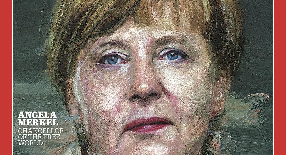 Angela Merkel na okładce The Times