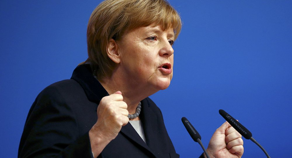 Angela Merkel w Karlsruhe