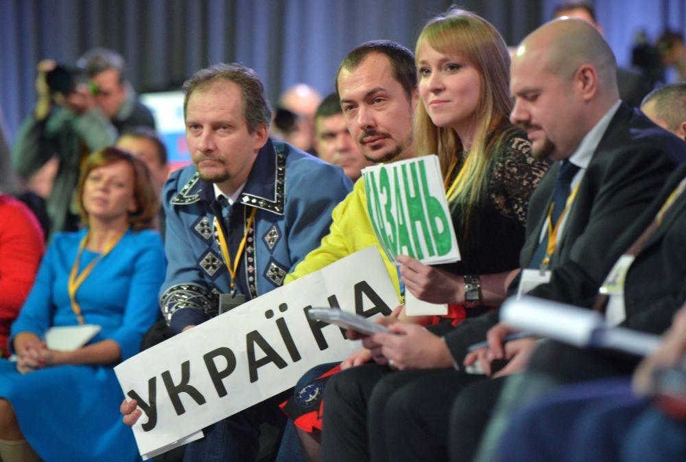 Dziennikarze na jedenastej corocznej konferencji prasowej prezydenta Rosji Władimira Putina. 17 grudnia 2015