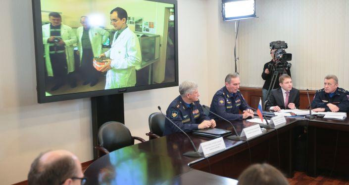 Briefing Ministerstwa Obrony na temat odczytania czarnych skrzynek z bombowca Su-24
