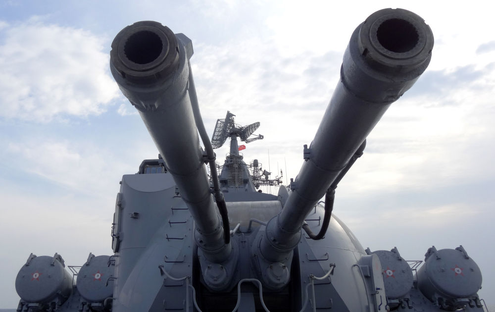 System artyleryjski rosyjskiego krązownika Moskwa