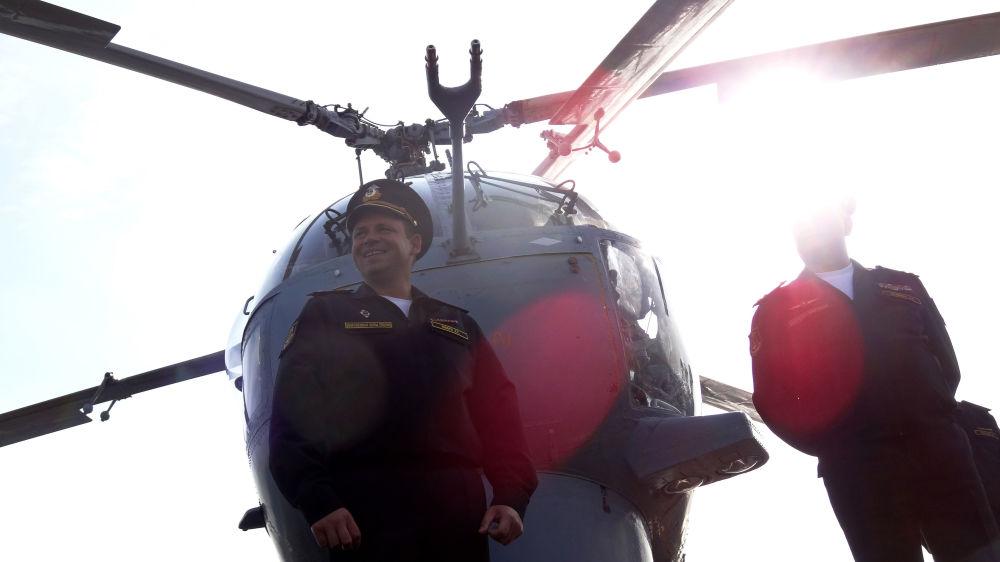 Kapitan I rangi rosyjskiego krązownika Moskwa Aleksandr Szwarc