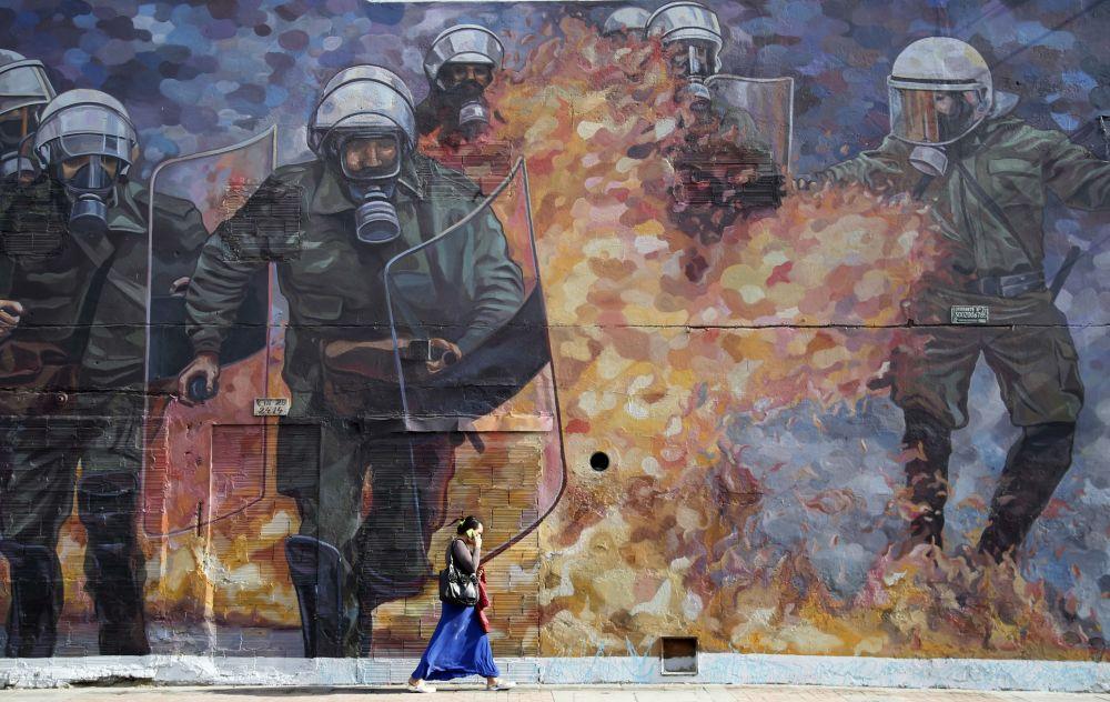 Graffiti w Bogocie, Kolumbia