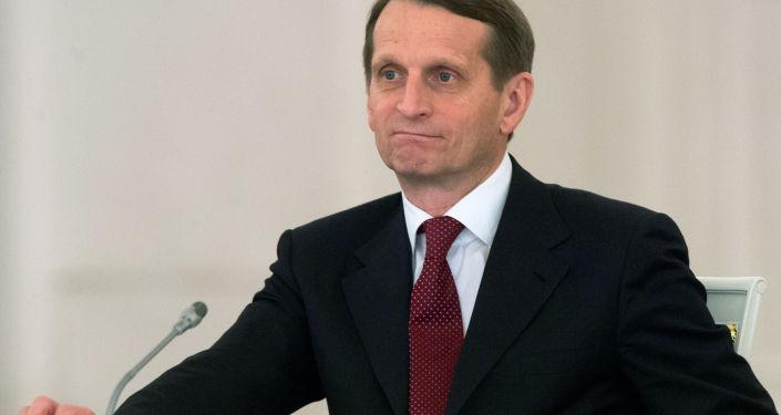 Marszałek Dumy Siergiej Naryszkin