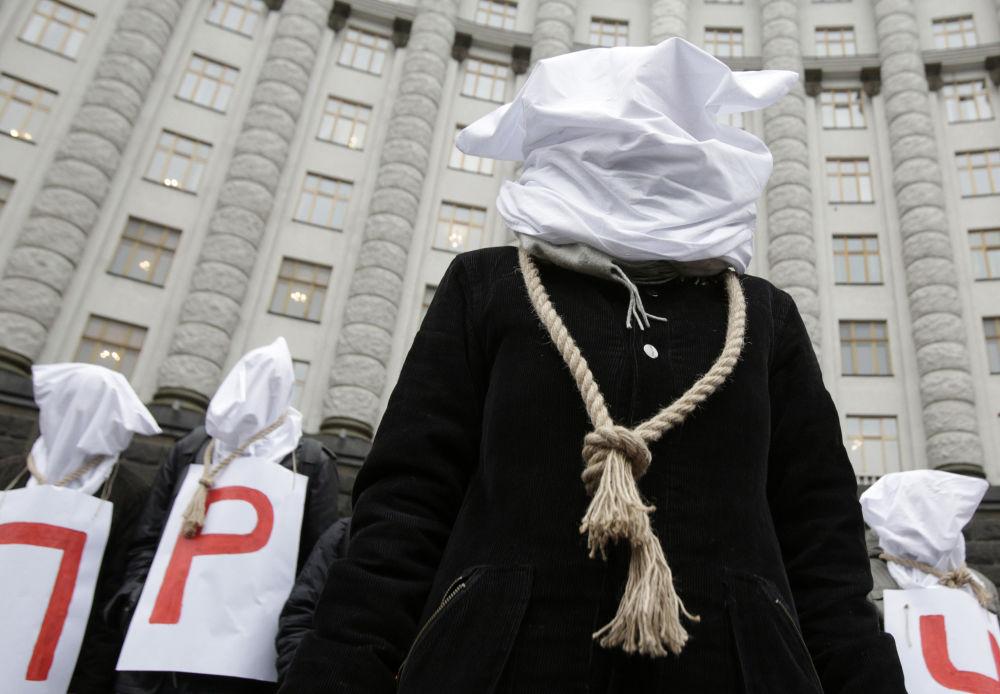Akcja protestacyjna w Kijowie