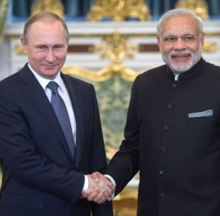 Prezydent Rosji Władimir Putin i premier Indii Narendra Modi