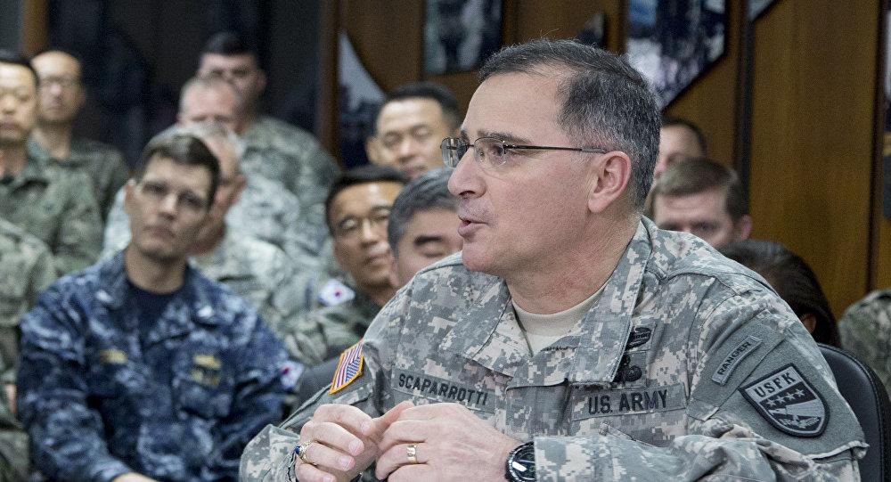 Dowódca amerykańskich wojsk w Korei Południowej generał Curtis Scaparrotti