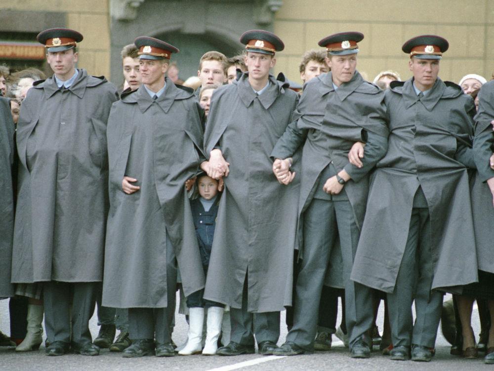 Ochrona na ulicach miasta podczas obchodów Dnia Moskwy