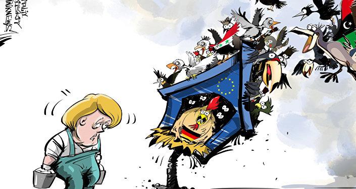 Merkel nie daje rady z uchodźcami