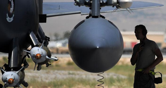 Samolot F-15E Sił Powietrznych USA w Afganistanie