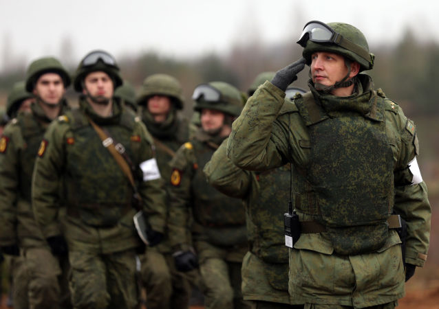 Rosyjscy żołnierze podczas ćwiczeń