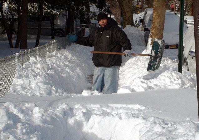 Burze śnieżne w USA
