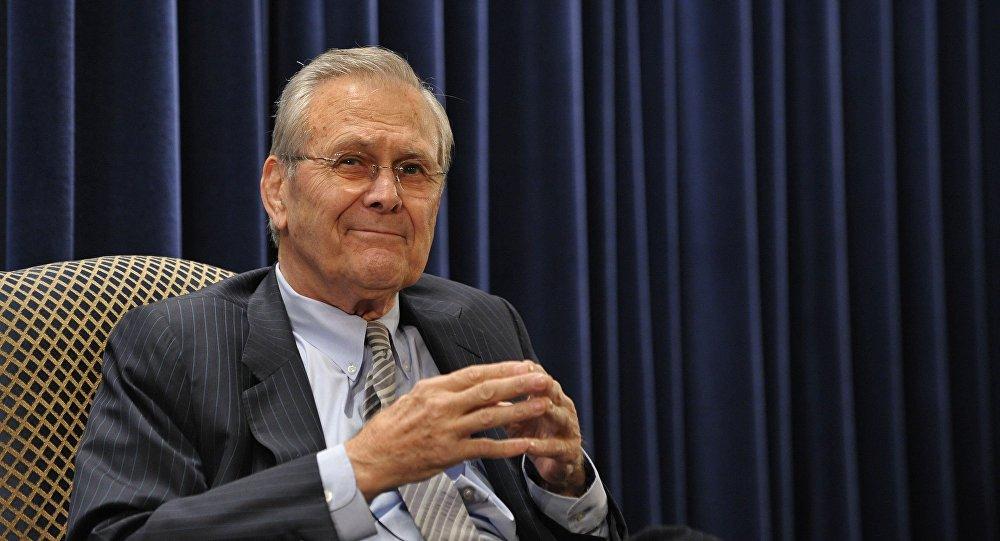 Były sekretarz obrony Stanów Zjednoczonych Donald Rumsfeld