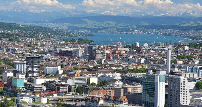 Widok na Zurich