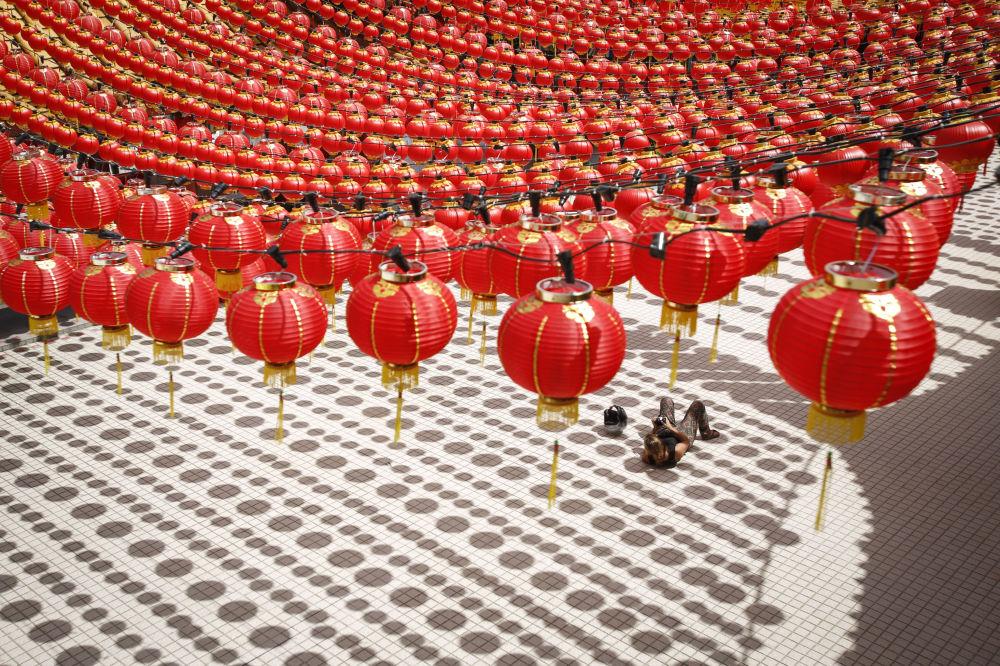 Przygotowanie do chińskiego nowego roku w Malezji