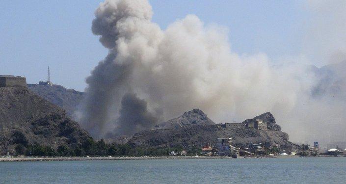 Desant w porcie miasta Aden w Jemenie