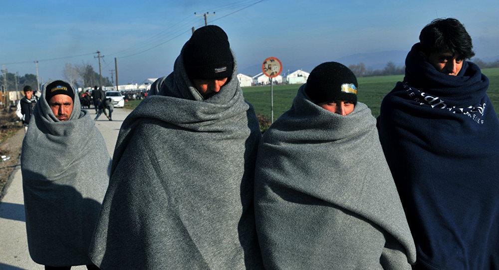 Obóz dla uchodźców w Grecji