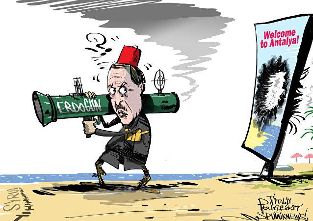 Rosyjscy turysty i Turcja