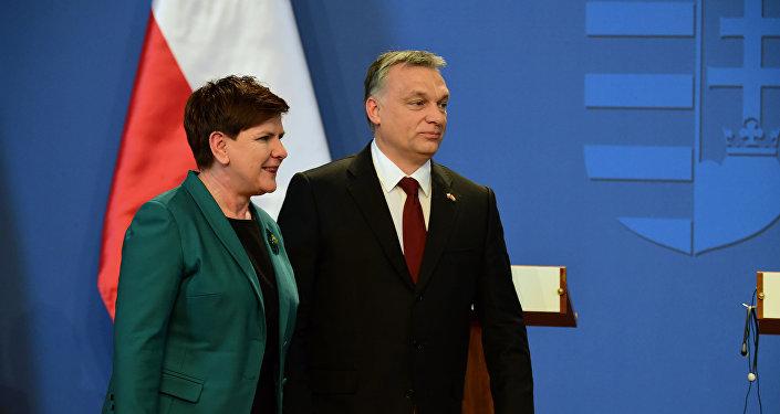 Premier Polski Beata Szydło i premier Węgier Viktor Orban
