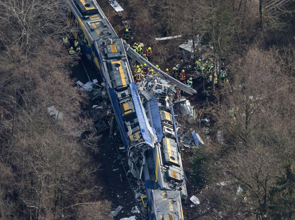 Zderzenie pociągów w pobliżu miasta Bad Aibling, Niemcy