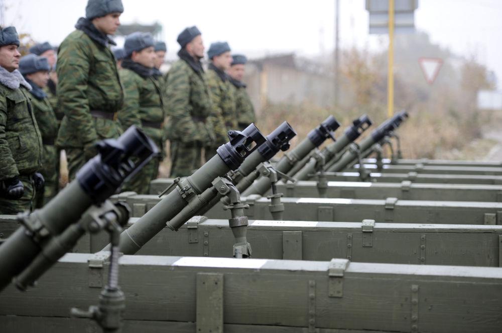 Pododdział Donieckiej Republiki Ludowej z moździerzami w rejonie Iłowajska