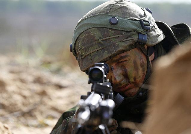 Źołnierz litewskiej armii
