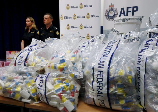 Skonfiskowana partia narkotyków w Australii