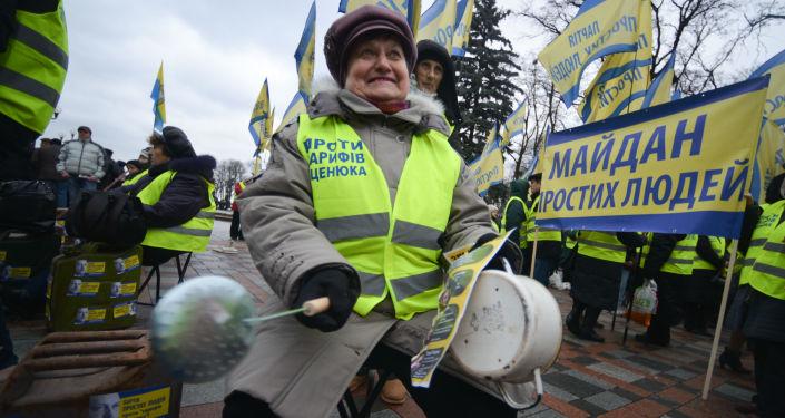 Akcje na Ukrainie na rzecz dymisji rządu Arsenija Jaceniuka